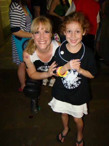 The Cincinnati Roller Girls and Ella