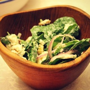 Spinach Salad with Pears, Walnuts & Goat Cheese (Whole Foods Recipe)