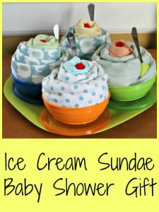 DIY Ice Cream Sundae Baby Shower Gift