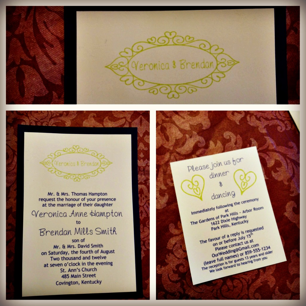 Handmade, Frugal & Sentimental Wedding Decorations & Invitations ...