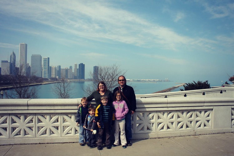 Shedd Aquarium View Family