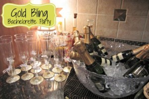 Gold Bling Bachelorette Party