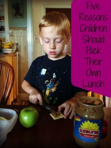 Five Reasons Children Should Pack Their Own Lunch