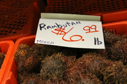 Rambutan in the Produce Department