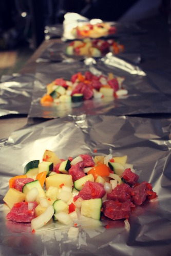 Meat & Veggie Packets Foil