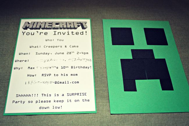 minecraft birthday party ideas the little things journal