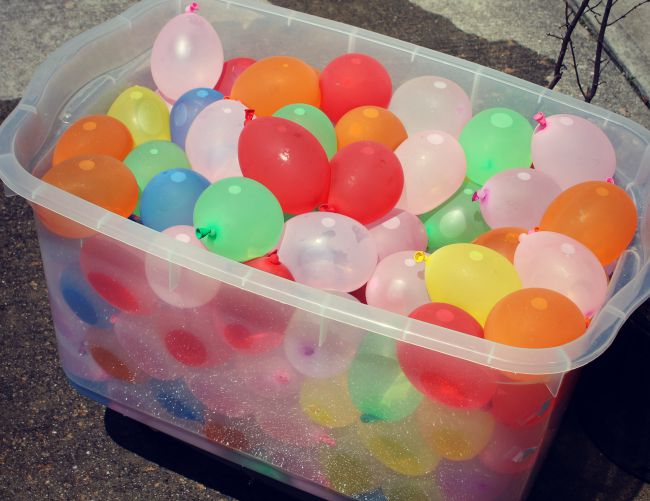 Minecraft Birthday Party Water Balloons