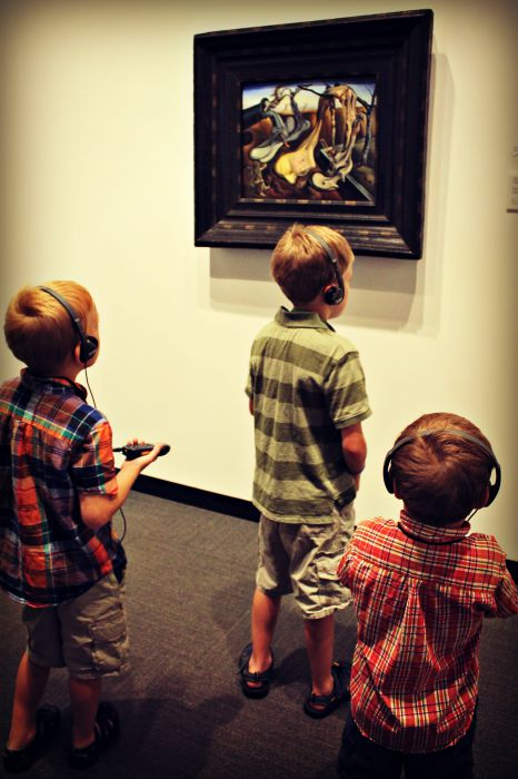 The Dali Museum my three sons