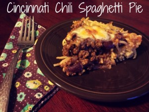 Cincinnati Chili Spaghetti Pie