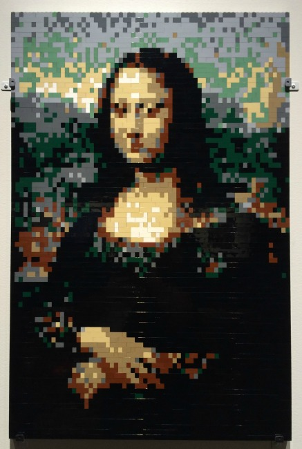 The Art of the Brick Mona Lisa