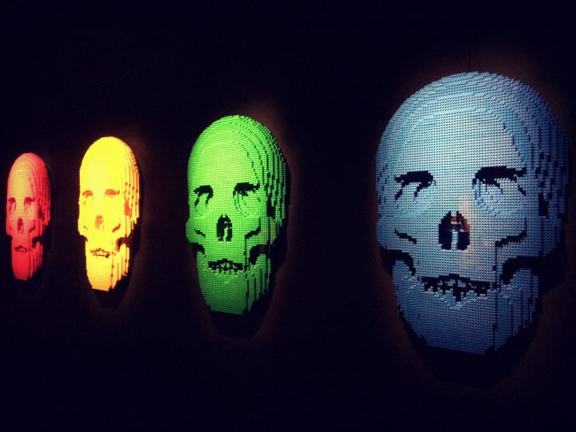The Art of the Brick Skulls