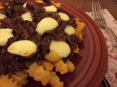 Slow Cooker Poutine Recipe Closeup