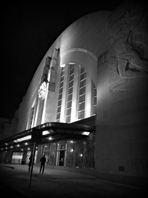Cincinnati Museum Center at Night