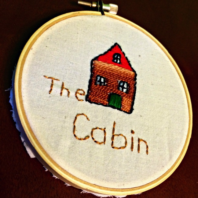 Embroidery The Cabin