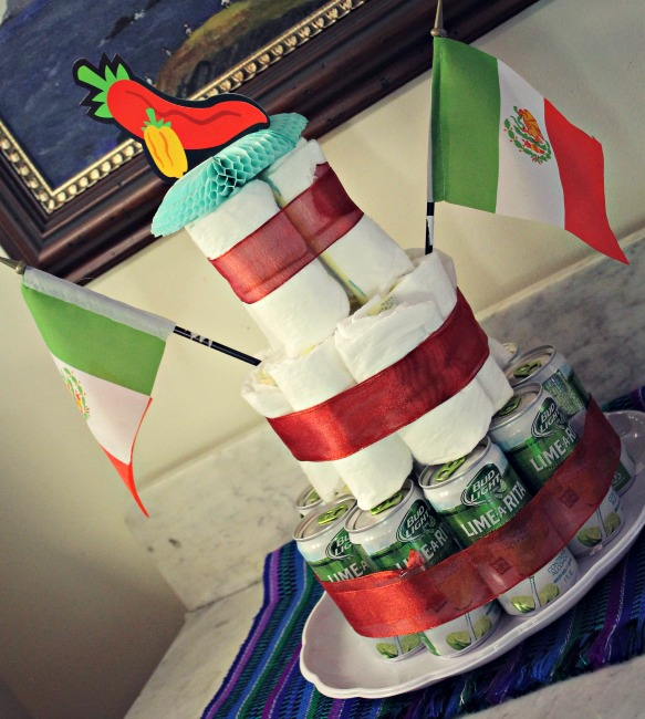 Fiesta Baby Shower Diaper Beer Cake