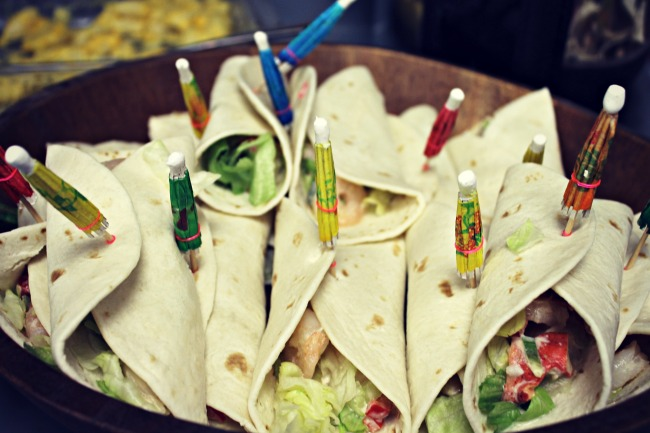 Fiesta Baby Shower Lobster Salad Tacos