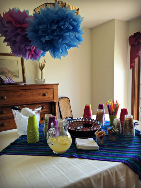Fiesta Baby Shower Punch Table