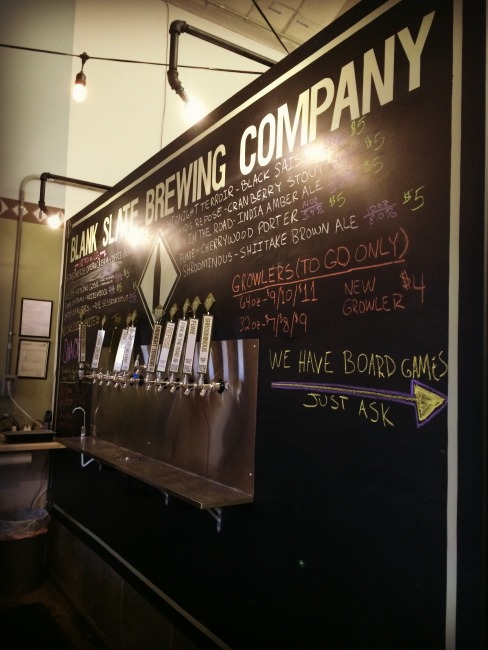 Blank Slate Brewing Company Taps