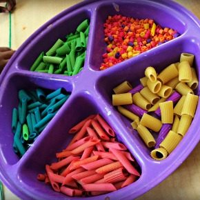 Rainbow Pasta Arts & Crafts