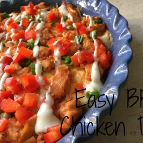 Easy Appetizer Recipe:  BBQ Chicken Dip